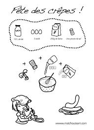 activité cuisine chandeleur les fiches pour maternelles à imprimer chandeleur