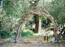 wedding arches made of branches handmade wedding at ranch daniel green wedding