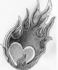 heart on fire by plutardus on deviantart