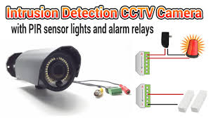 Motion Sensors For Lights Cctv Camera With Pir Motion Detector Light And Alarm Relays