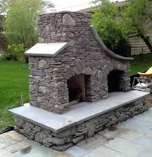 Stacked Stone Outdoor Fireplace - stone outdoor fireplace cost kits australia large rustic fire