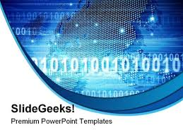 binary world background powerpoint templates and powerpoint