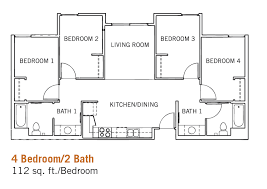 four bedroom floor plans glen mor