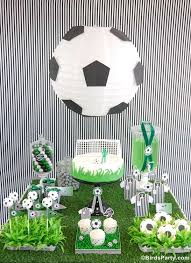 Soccer Theme Party Decorations Check It Out Monochrome Party Ideas