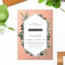 wedding invitations greenery gold foil modern botanical wedding invitations australia