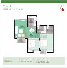 2 bhk unitech uniworld garden 2 floor plan archives floorplan in