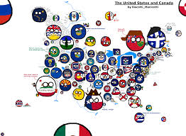 United States Canada Map by Stateball Map Of The United States And Canada Stateball