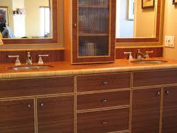 Bamboo Bathroom Cabinet End Grain Bamboo Bathroom Cabinetry By Lagunabamboo