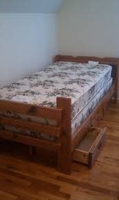 wood bed frame with drawers twin size wood bed frame with drawers mattress and box springs