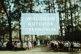 wedding backdrop rentals wisconsin outdoor wedding ceremonies a la crate rentals