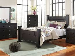 ashley king bedroom sets kith 495 karson black poster king 6pc bedroom set