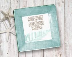 wedding invitation plate keepsake country wedding invitation keepsake 1st anniversary gift