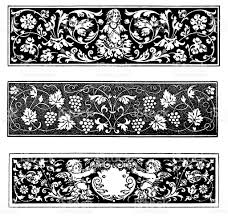 row ornaments in renaissance style stock vector 487905237 istock