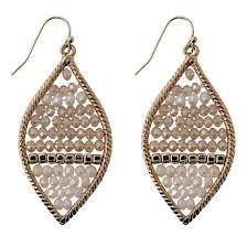 drop earring fashion beaded drop earring gold target