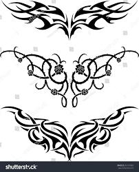 tattoo setoriginal tattoo patterns lower back stock vector