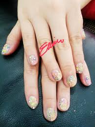 colourful nail design for my beloved customer who going to married