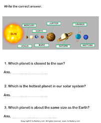 planets in our solar system worksheet turtle diary
