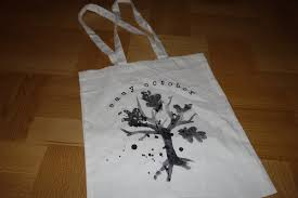tote bag tree logo easy october