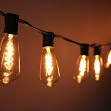 light co outdoor commercial string globe lights 24ft 24
