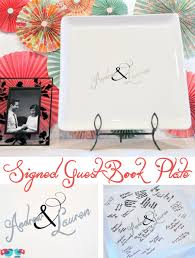 signable wedding platters diy wedding guest book plate the nerds