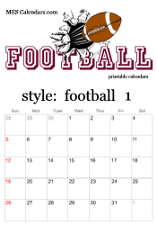 printable football calendars personalized sports calendars to print