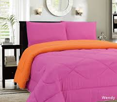 Home Design Down Alternative Adorable Pink And Orange Bedding Easy Home Design Ideas With Pink