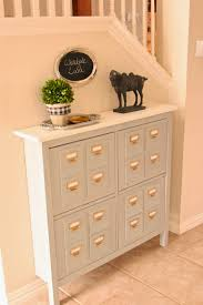 faux library card catalog console hacked from ikea hemmes shoe