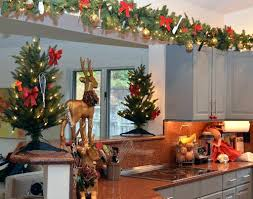 decorate above kitchen cabinets for christmas ideas decorating top