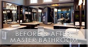 Bathroom Before And After by Stylish Transitional Master Bathroom Before And After Robeson Design