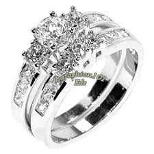 stainless steel wedding ring sets stainless steel wedding sets 3 pcs his hers stainless steel women