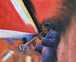 black art oil painting 47 african american jazz ian s