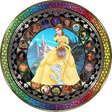beauty and the beast stained glass window chicago tattoo all