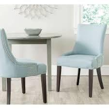 Teal Dining Chairs by Safavieh Gretchen Light Blue Cotton Linen Side Chair Set Of 2