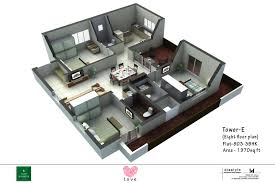 25 more 3 bedroom 3d floor plans 7 loversiq floor plansaffordable flatshomes in mambakkam vijayshanthi builders tower e 3d home decorators collection pinterest