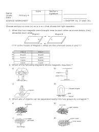 Science Worksheet P4 Worksheet Science Magnet And Energy Friction Magnet