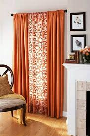 Contemporary Orange Curtains Designs Opulent Ideas Orange Curtains For Living Room Contemporary Palmer