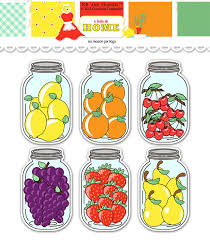 printable jar label sheets digital fruit mason jar tags collage sheet by kbandfriends