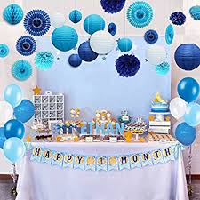 party decorations kubert 89 pcs white and blue party decorations