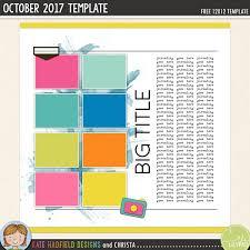 free digital scrapbooking template october 2017 kate hadfield