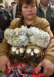 bolivia u0027s day of the skull ancient tradition sees people adorn and