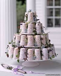 wedding cake made of cheese cake a wedding cake of mini goat s cheese towers entwined