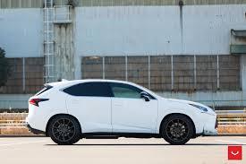 lexus nx200t white vossen wheels lexus nx vossen cvt