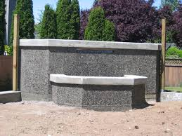 exposed aggregate concrete fence fence pinterest