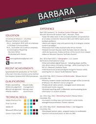 Content Manager Resume Multimedia Resume Resume For Your Job Application
