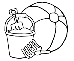 free coloring pages beach beach ball coloring page printable eson me