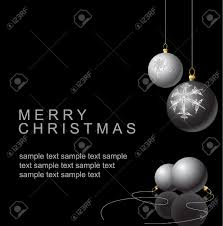 black and white christmas bulbs with snowflakes ornaments on