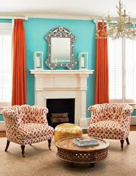 Teal Room Decor Simple Decoration Teal And Orange Living Room Ingenious