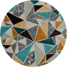 Collectic Home Round Teal Rug Rugs Ideas