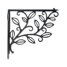 restorers vine leaf cast iron shelf bracket