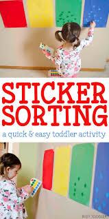 sticker sorting activity sorting activities activities and